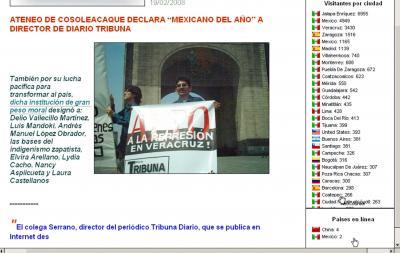SE DISPARA ESTADÍSTICA DE VISITANTES DEL SITIO Diario TRIBUNA... A CIEN POR HORA!